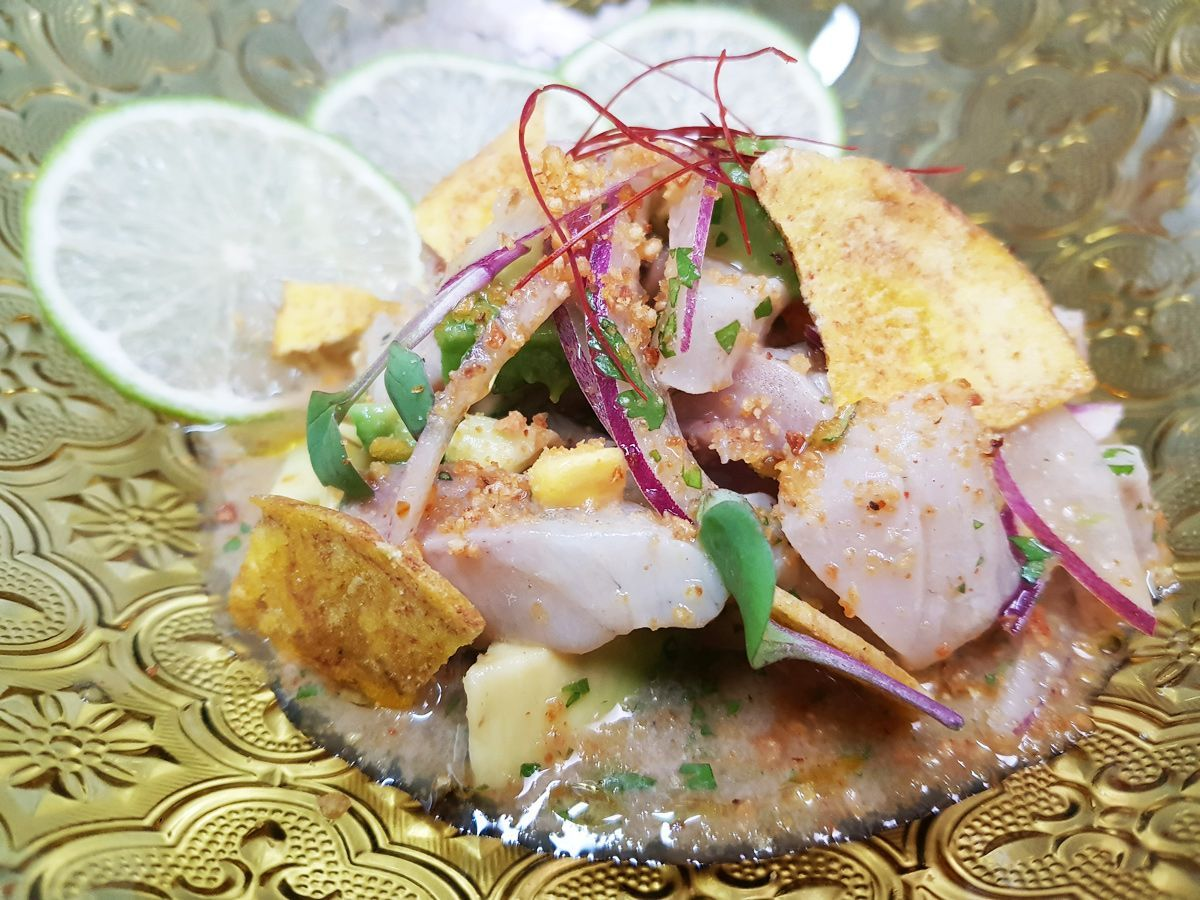 European sea bass ceviche